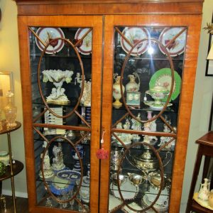 19th Century Satinwood 2 Door Display Cabinet PC2062OTX