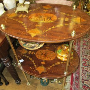 Neoclassical Inlaid Occasional Table ML1551OXR