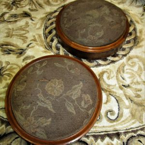 Pair of Victorian Walnut & Upholstered Footstools EL2125GX