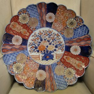 19th Century Imari Charger with scalloped edge