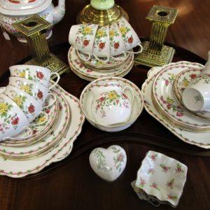 Aynsley China 12 piece tea set LP2114OE