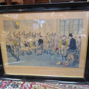 Edwardian Engraving depicting The Saddling Room at Epsom LP2572GX