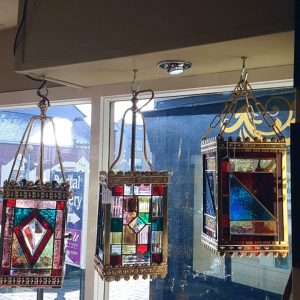 Leaded Glass Lanterns