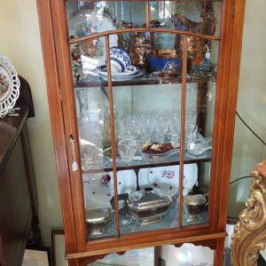 Mahogany and inlaid glazed cabinet LP3291IX