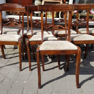 Set of 8 Mahogany dining chairs