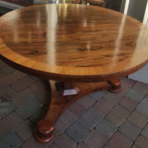 Circular Rosewood & Crossbanded Pod Table