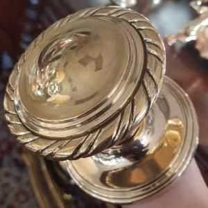 Large cast brass door knob